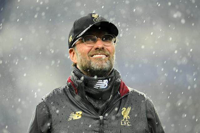 Jurgen Klopp looks on ahead of the UEFA Champions League quarter final second leg match between Porto and Liverpool