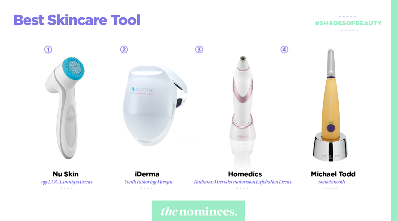 <p>Nu Skin, iDerma, Homedics, and Michael Todd. (Art by Quinn Lemmers for Yahoo Lifestyle) </p>