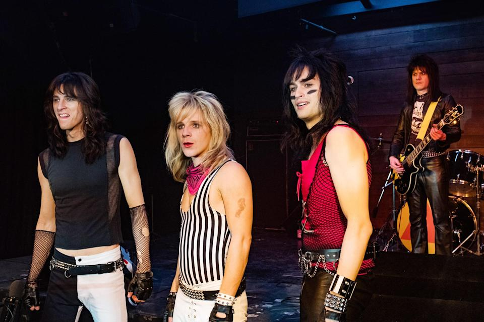 """<p>Based on the real memoirs of the members of Mötley Cruë, this rock biopic follows the band in the early days of their music career, packed with - quite literally - sex, drugs, and rock 'n' roll.</p> <p><a href=""""http://www.netflix.com/title/80169469"""" class=""""link rapid-noclick-resp"""" rel=""""nofollow noopener"""" target=""""_blank"""" data-ylk=""""slk:Watch The Dirt on Netflix"""">Watch <strong>The Dirt</strong> on Netflix</a>.</p>"""