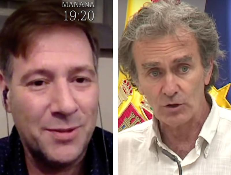 Carlos Latre y Fernando Simón. (Photo: LASEXTA / YOUTUBE)