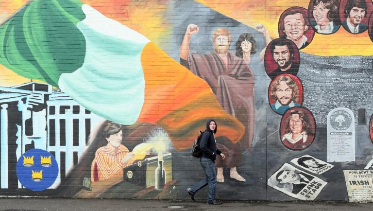 Murals on the Catholic Falls Road in Belfast, scene of relative peace for the past 20 years