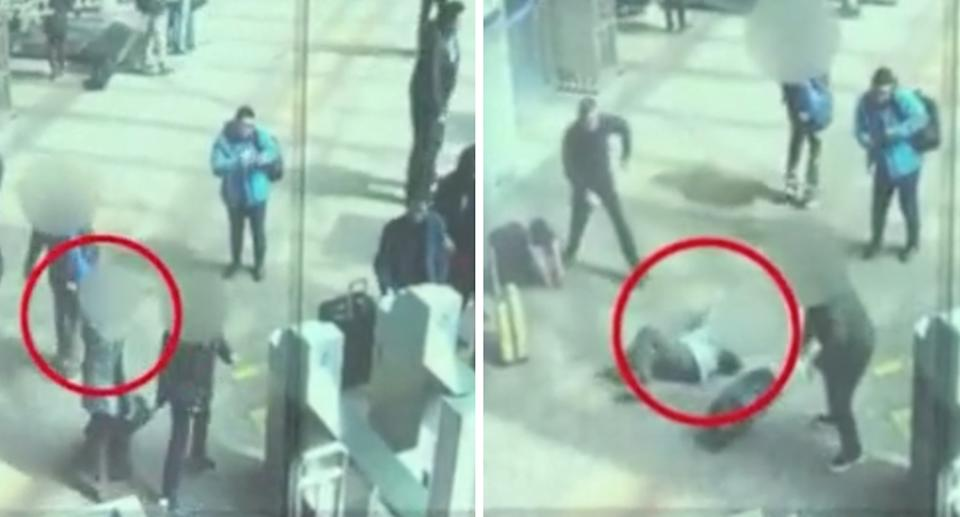 Ms Wang fell over the suitcase, and died two weeks later. Source: Beijing Daily