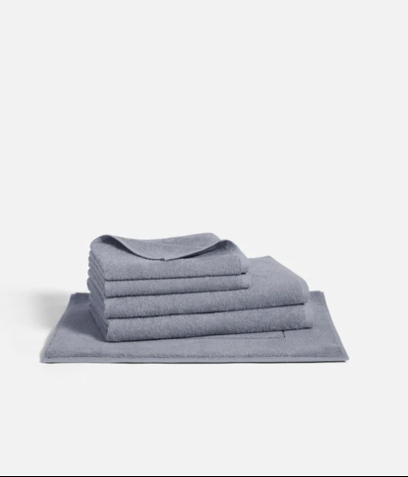 """<p><strong>Brooklinen</strong></p><p>brooklinen.com</p><p><strong>$79.00</strong></p><p><a href=""""https://go.redirectingat.com?id=74968X1596630&url=https%3A%2F%2Fwww.brooklinen.com%2Fproducts%2Fultralight-bath-towel-bundle&sref=https%3A%2F%2Fwww.oprahmag.com%2Flife%2Fg29523583%2Fbest-bath-towels%2F"""" rel=""""nofollow noopener"""" target=""""_blank"""" data-ylk=""""slk:SHOP NOW"""" class=""""link rapid-noclick-resp"""">SHOP NOW</a></p><p>Pick up this set to revamp your bathroom towel supply with just one purchase. Brooklinen's fastest drying towel set includes two bath towels, two hand towels, and a bath mat—all of which are made with 100% Turkish Cotton.</p>"""