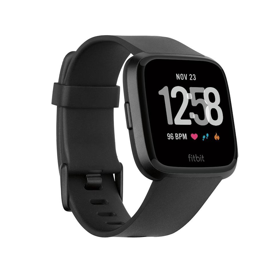<p>Just about everyone who owns the <span>Fitbit Versa - Black Band - Black Aluminum Case</span> ($170) is obsessed. If you're willing to shell out some extra funds, this is a gift that will stand out among the rest.</p>