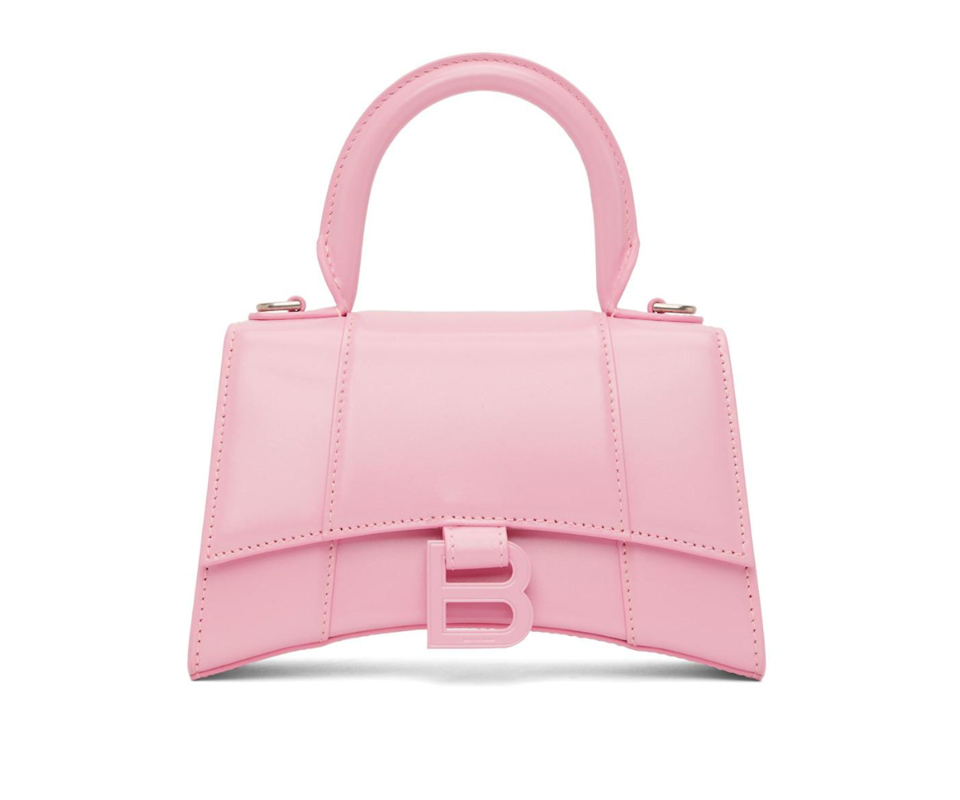 Hourglass XS Top Handle Bag in Candy Pink Photo: Cosette