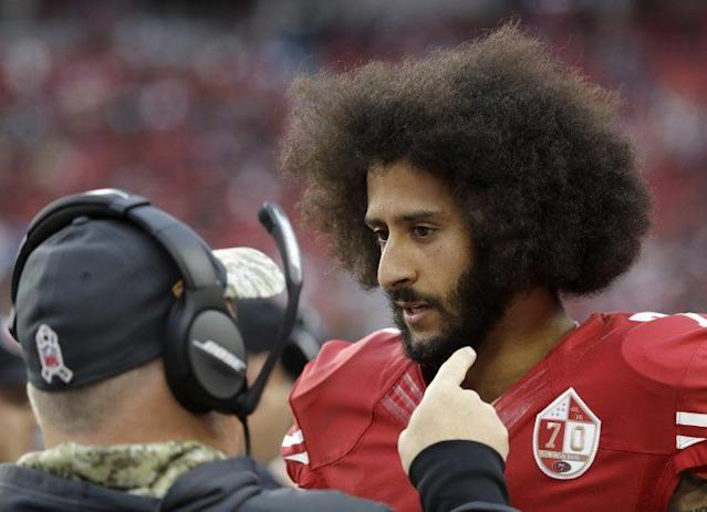 Colin Kaepernick remains unsigned as a free agent. (AP)