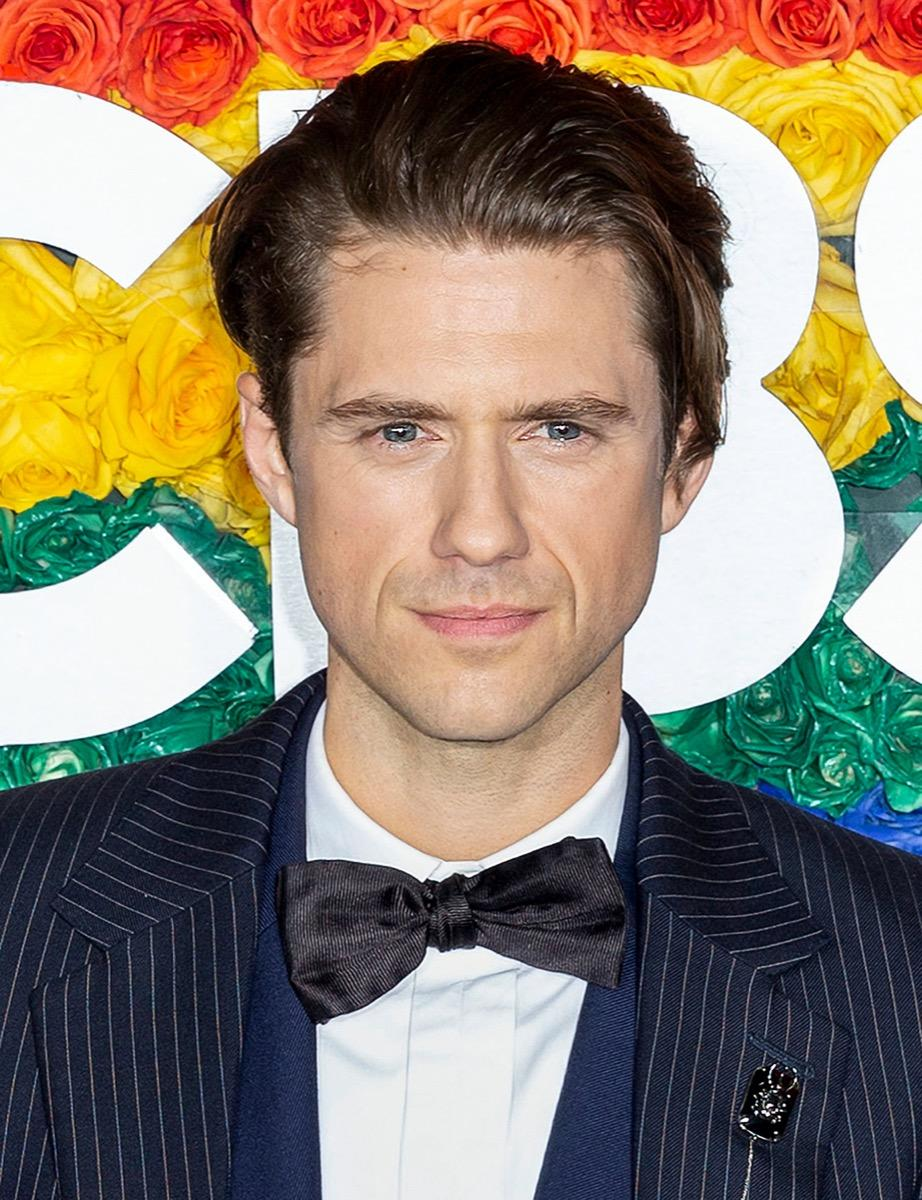 Aaron Tveit wears a black jacket at the 73rd Annual Tony Awards in 2019
