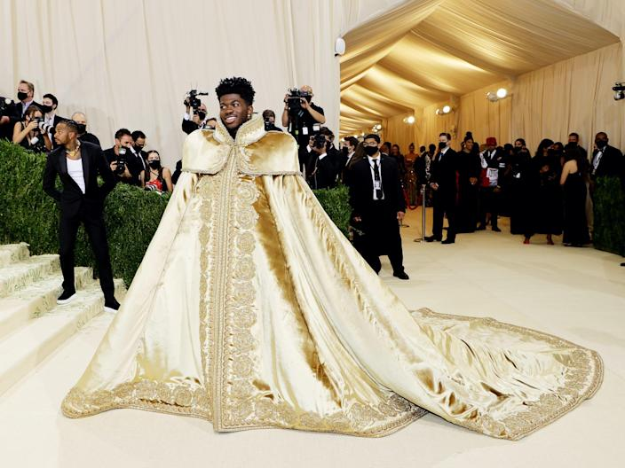 Lil Nas X attends the 2021 Met Gala.