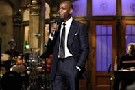 <p>Dave Chappelle hosted the post-election episode of <em>Saturday Night Live</em> in New York City.</p>