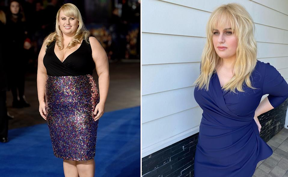 Before and after of Rebel Wilson's weightloss