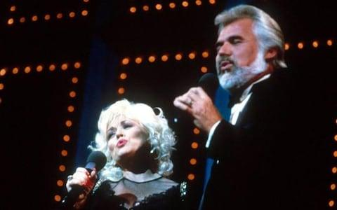 Parton and Rogers performing together in 1983