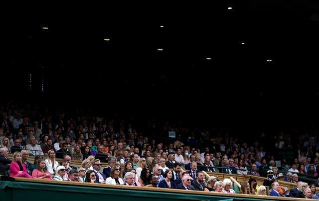 It was busy in the royal box during the Ladies' singles match between Aryna Sabalenka and Ons Jabeuron