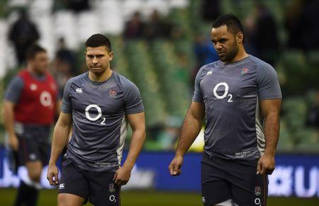 FILE PHOTO: Rugby Union - Ireland v England - Six Nations Championship - Aviva Stadium, Dublin, Republic of Ireland - 18/3/17 England's Ben Youngs and Billy Vunipola warm up before the match  Reuters / Clodagh Kilcoyne Livepic