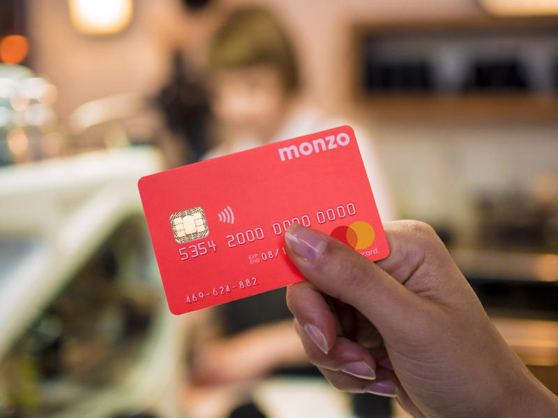 Hot coral: Monzo's iconic debit card. Photo: Monzo