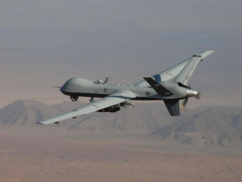 A US Air Force drone in flight over southern Afghanistan: Rex