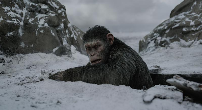 Caesar goes to ground in 'War for the Planet of the Apes' (20th Century Fox)