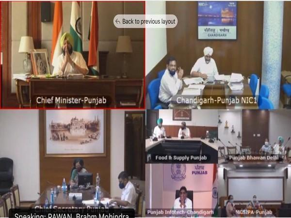 Visual of Punjab Chief Minister chairing the meeting (Photo/ANI)