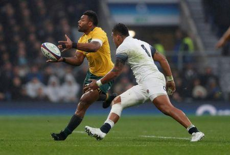Rugby Union - Autumn Internationals - England vs Australia - Twickenham Stadium, London, Britain - November 18, 2017 England's Nathan Hughes in action with Australia's Samu Kerevi Action Images via Reuters/Matthew Childs