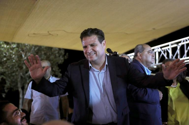 The Joint List's chief, Arab leftwinger Ayman Odeh, could even become the official leader of the opposition in the Israeli parliament if a mooted unity government between the two largest Jewish-led parties goes ahead (AFP Photo/Ahmad GHARABLI)