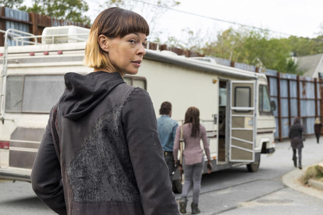 <p>We can't help but be fascinated by Jadis and her odd ways as leader of the Heapsters. But she did make Rick prove his mettle by fighting spiky walker Winslow, then force the Alexandrians to come up with a whole cache of guns before she'd agree to join their battle against Negan, only to cut a side deal with the Saviors and betray Rick's people in the middle of the Season 7 finale fight. That's big baddie handiwork, for sure — but we still can't wait to see what Jadis and the Heapsters get up to next.<br>(Photo: AMC) </p>