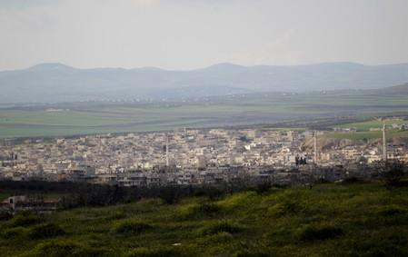 FILE PHOTO: A general view shows Khan Sheikhoun in the southern countryside of Idlib