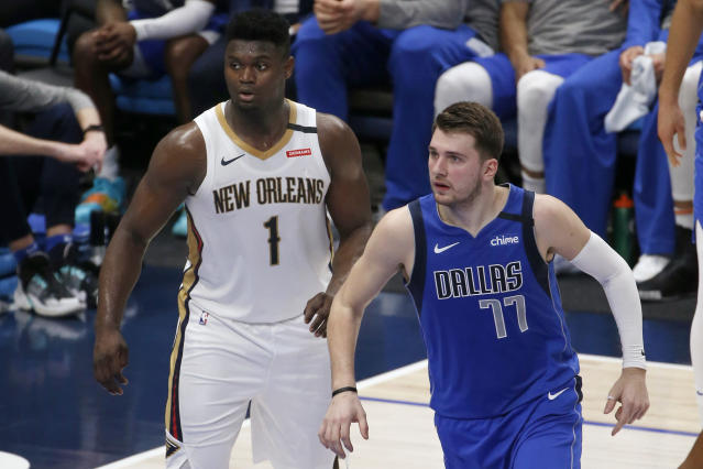 Luka Doncic and Zion Williamson are poised to lead the next generation of NBA superstars. (AP Photo/Michael Ainsworth)