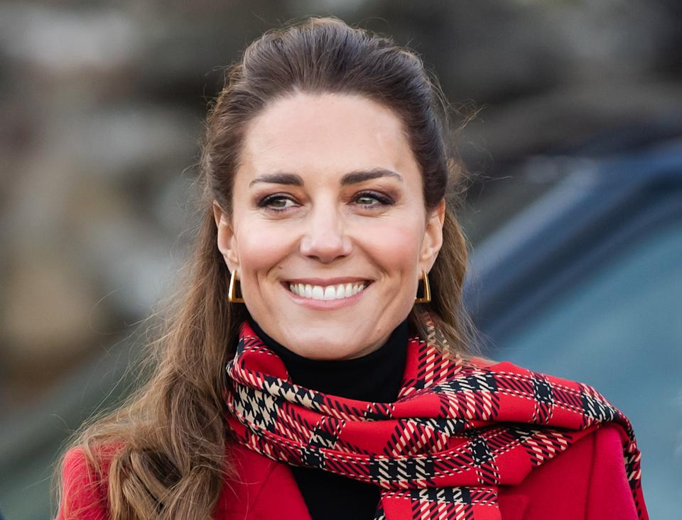 CARDIFF, WALES - DECEMBER 08: Catherine, Duchess of Cambridge during a visit to Cardiff Castle with Prince William, Duke of Cambridge on December 08, 2020 in Cardiff, Wales. (Photo by Samir Hussein/WireImage)
