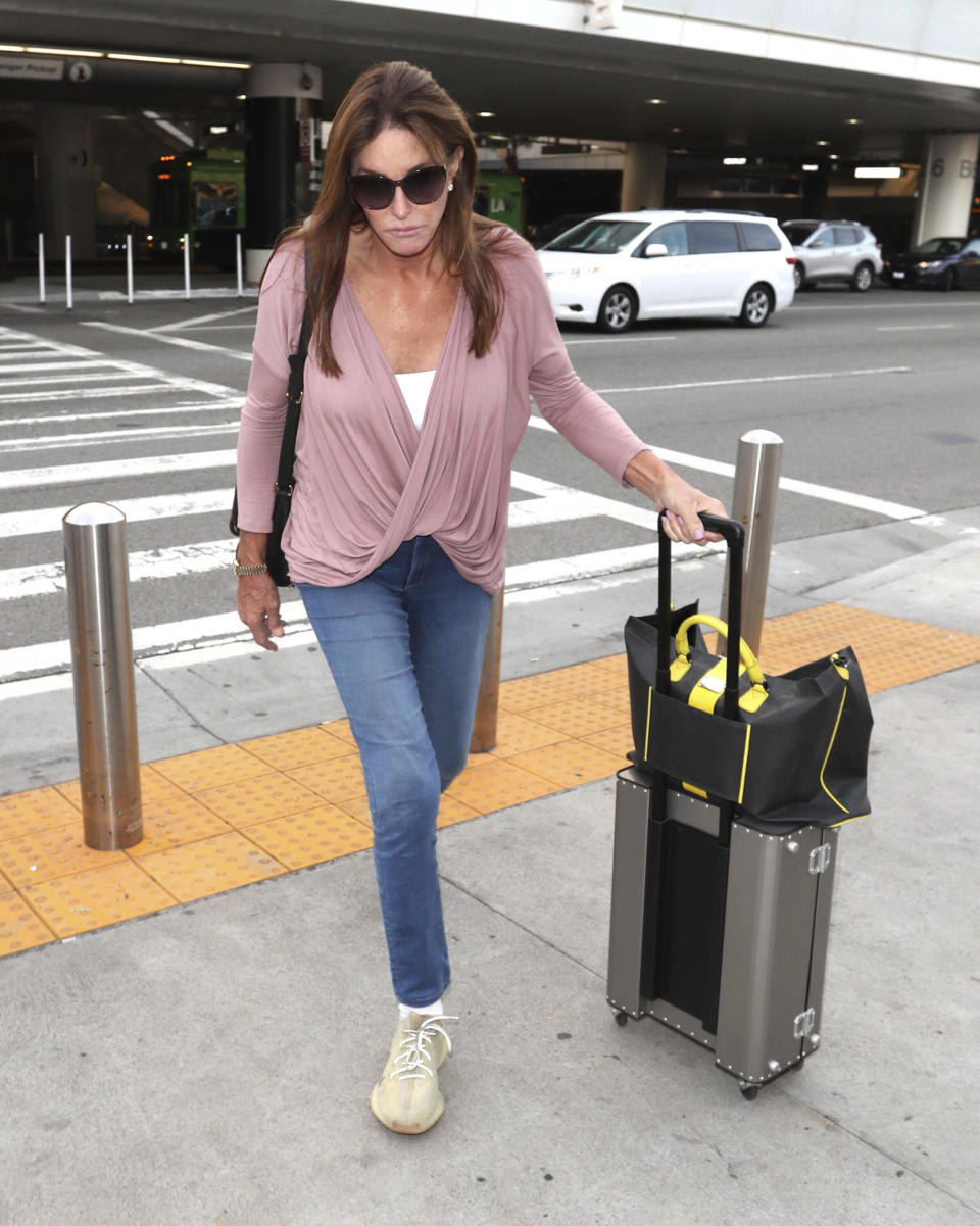 Photo by: STRF/STAR MAX/IPx 2019 12/10/19 Caitlyn Jenner is seen at LAX Airport in Los Angeles, CA.