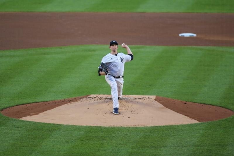 James Paxton pitches against Red Sox