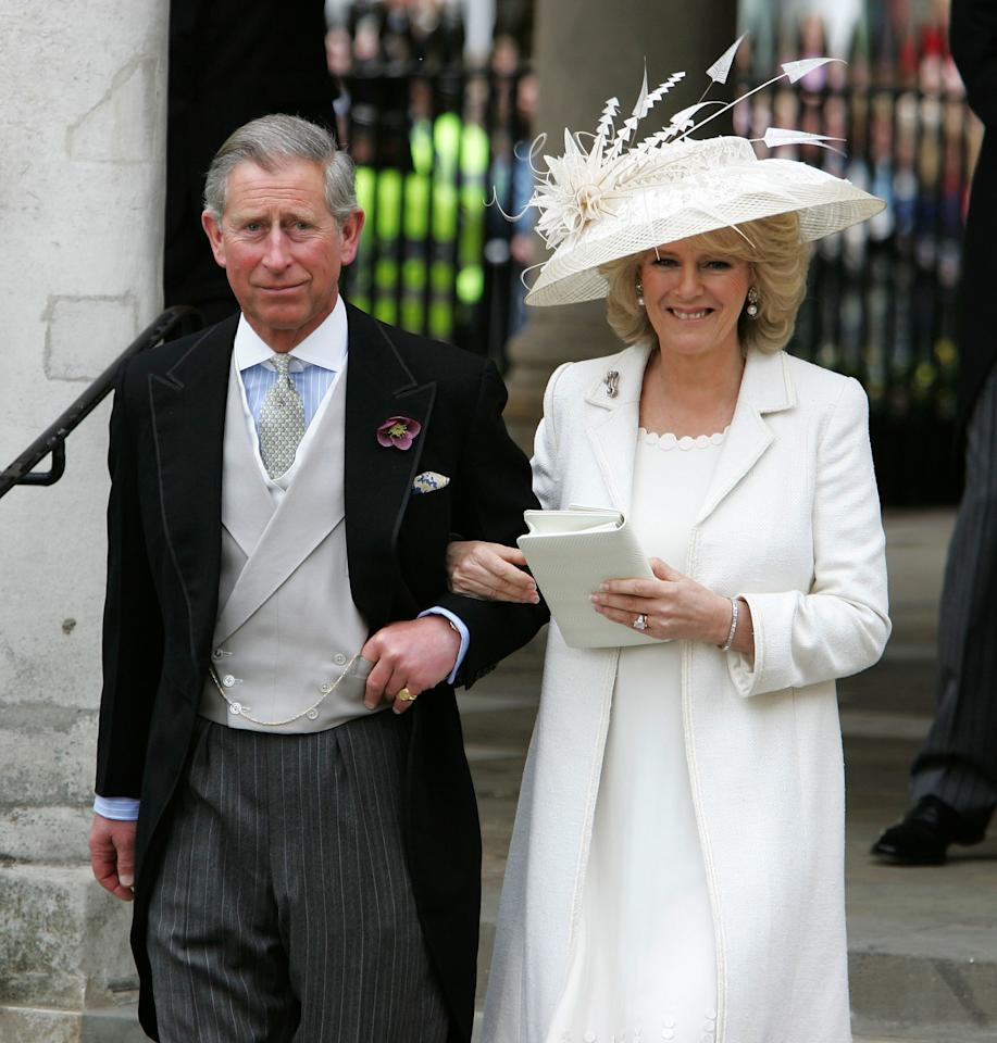 On April 9, 2005, Prince Charles and Camilla tied the knot in a civil ceremony at Windsor Guildhall, right outside Windsor Castle.
