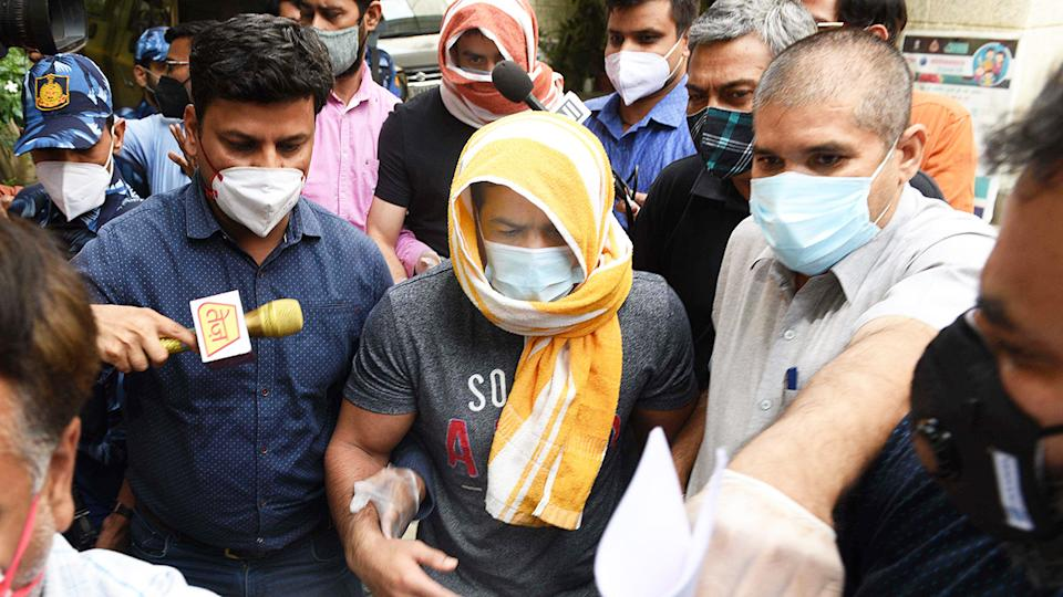 Sushil Kumar, pictured here in the custody of Delhi Police.