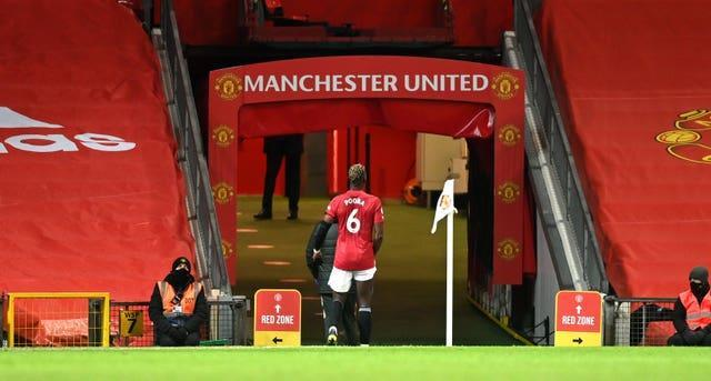 Paul Pogba has not played since limping off against Everton last month