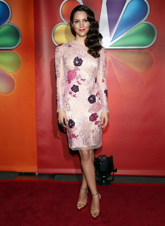 "Katharine McPhee (""Smash"") attends NBC's 2012 Upfront Presentation at 51st Street on May 14, 2012 in New York City."