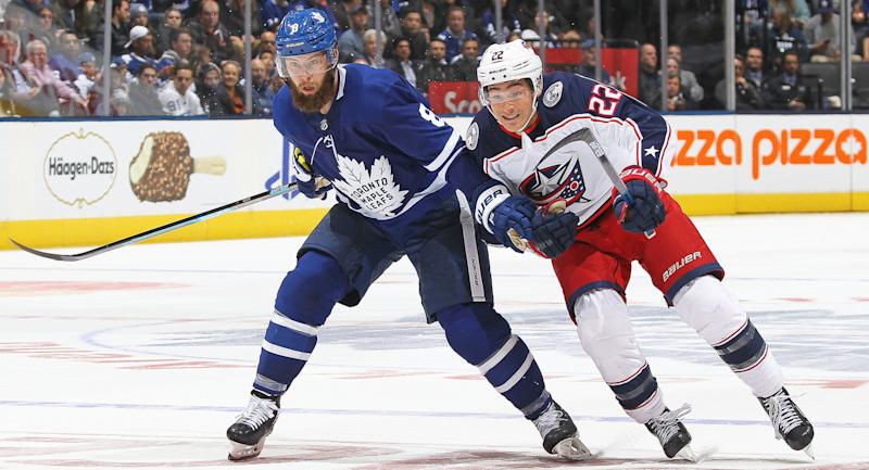 Jake Muzzin has been the Maple Leafs' best defenceman this year. (Claus Andersen/Getty Images)