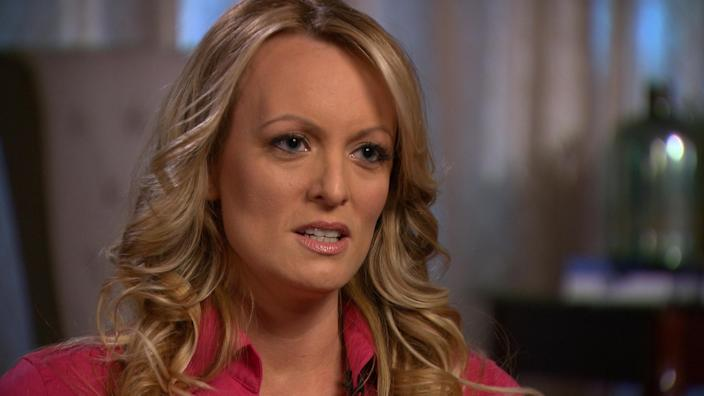 Stormy Daniels, aka Stephanie Clifford, is interviewed by Anderson Cooper on CBS News' <em>60 Minutes</em> in early March 2018. (Photo: CBSNews/60 Minutes/Handout via Reuters)