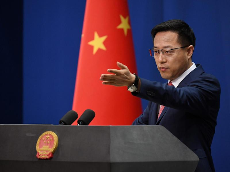 Zhao Lijian accused the US of selfish behaviour: AFP via Getty Images