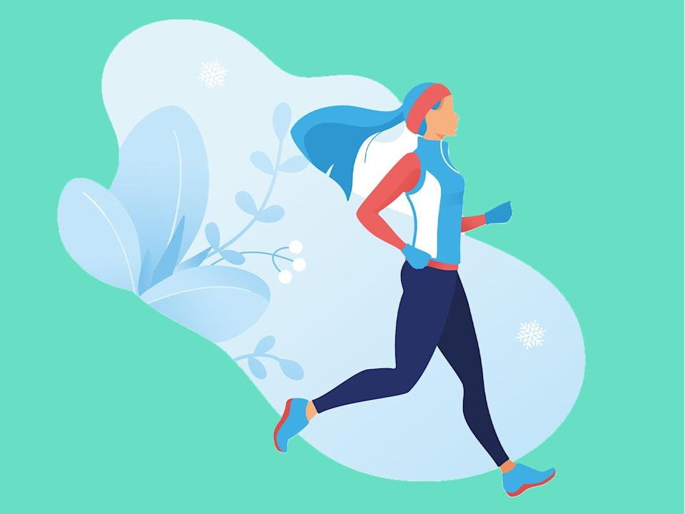 Wrap up warm to exercise with insulated layers that won't restrict movement or make you too hot (iStock)