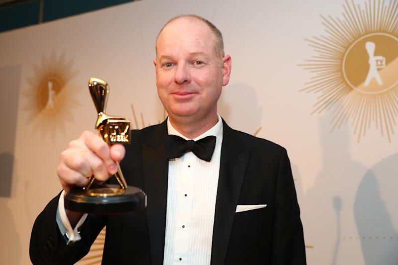 Tom Gleeson poses with the Gold Logie Award for Most Popular Personality during the 61st Annual TV WEEK Logie Awards