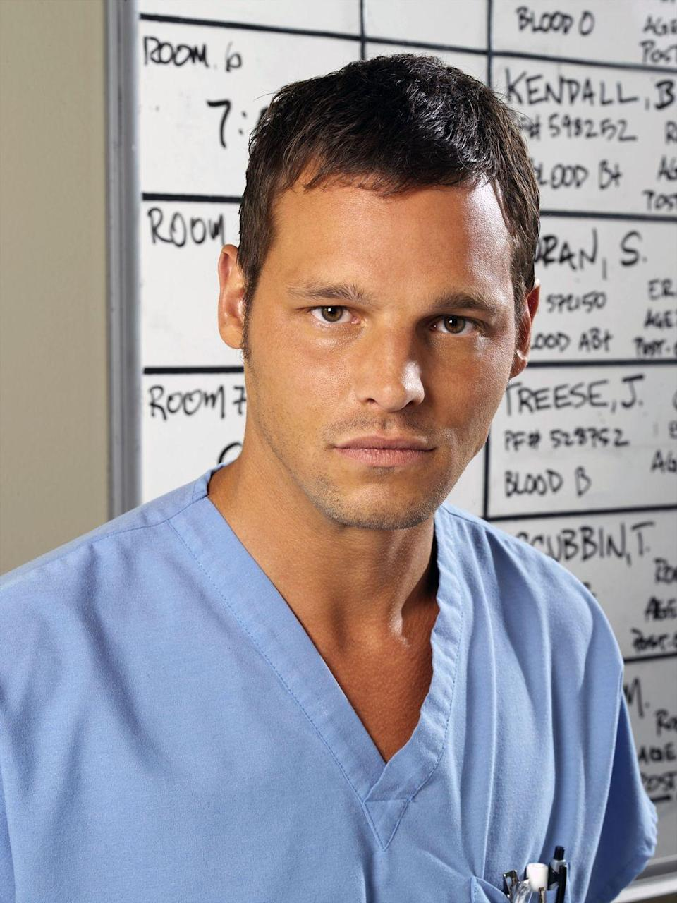 <p>Justin Chambers has been playing Alex Karev since season 1. Here's what he looked like when the show premiered. </p>