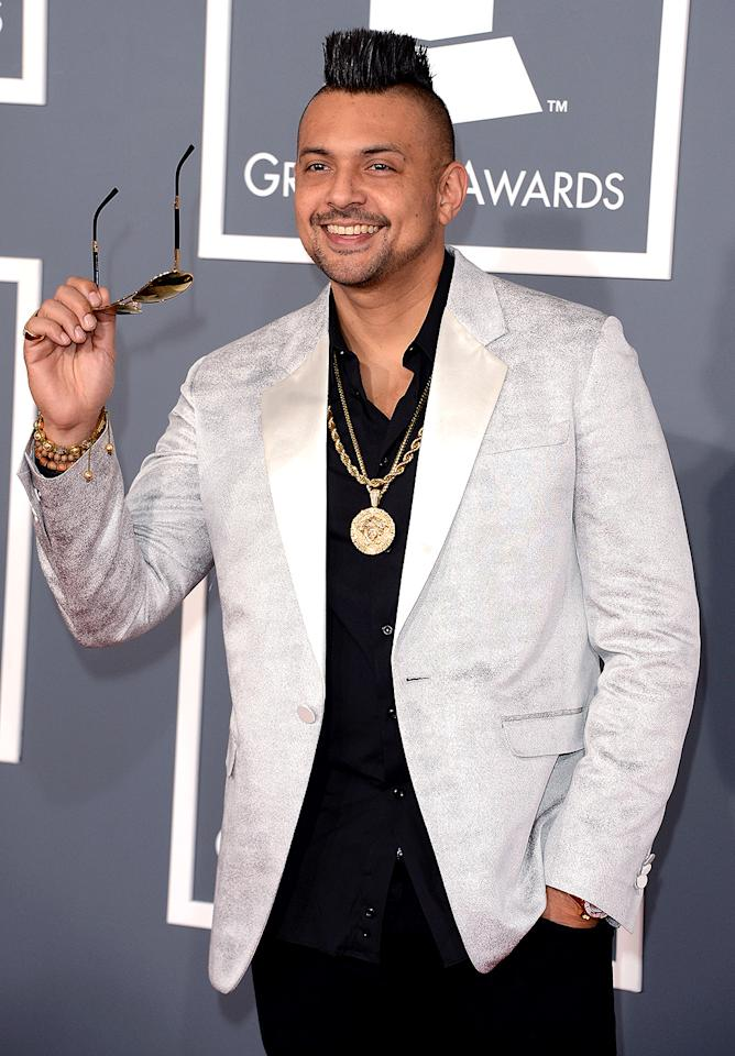 LOS ANGELES, CA - FEBRUARY 10:  Singer Sean Paul arrives at the 55th Annual GRAMMY Awards at Staples Center on February 10, 2013 in Los Angeles, California.  (Photo by Jason Merritt/Getty Images)
