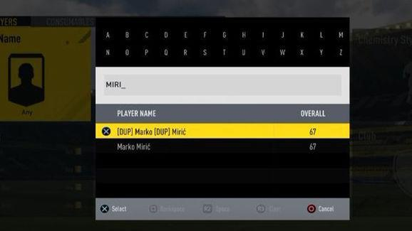 Marko Miric is the only known player to be duplicated on FIFA Ultimate Team