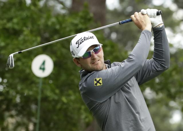 Bernd Wiesberger, of Austria, hits a shot on the fourth hole during the second round at the Masters golf tournament Friday, April 6, 2018, in Augusta, Ga. (AP Photo/Chris Carlson)