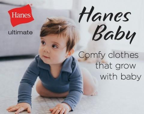 Goodbye Growing Pains: Hanes' New Babywear Delivers Comfort and Innovation for Baby, Convenience and Savings for Parents