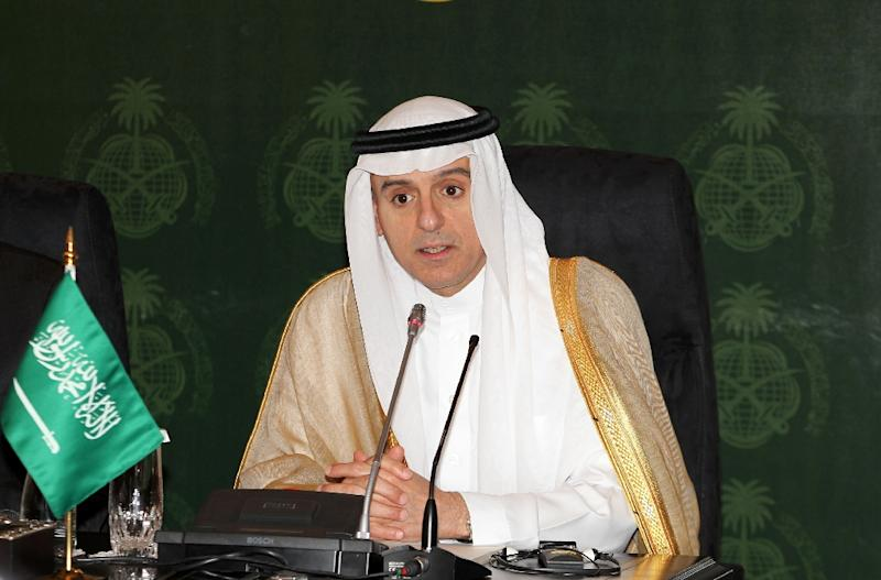 "Saudi Foreign Minister Adel al-Jubeir denounced ""aggressive statements"" by Iran, intensifying the verbal sparring between the regional rivals (AFP Photo/)"