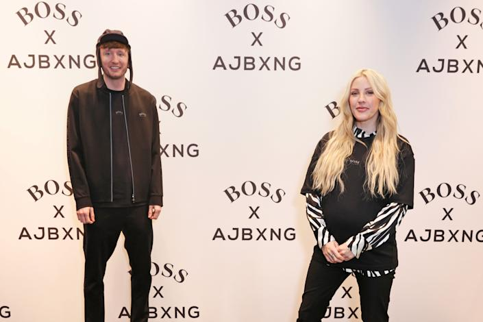 LONDON, ENGLAND - FEBRUARY 24:   Steve Stamp of Kurupt FM and Ellie Goulding attend the unveiling of the BOSS x AJBXNG second capsule collection at BOSS Store, Regent Street, on February 24, 2021 in London, England.  (Photo by David M. Benett/Dave Benett/Getty Images for BOSS)