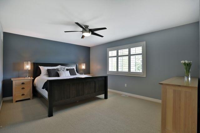 """<p><a href=""""https://www.zoocasa.com/oakville-on-real-estate/5427359-2316-foxfield-rd-oakville-on-l6m4c9-w4181758"""" rel=""""nofollow noopener"""" target=""""_blank"""" data-ylk=""""slk:2316 Foxfield Rd., Oakville, Ont."""" class=""""link rapid-noclick-resp"""">2316 Foxfield Rd., Oakville, Ont.</a><br> There are three bedrooms, including this spacious master suite with nine-foot ceilings.<br> (Photo: Zoocasa) </p>"""