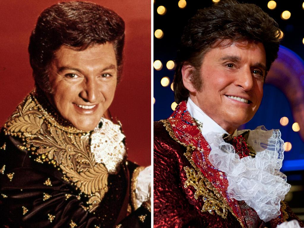 "<b>Liberace (Michael Douglas)</b><br /><br />Though Liberace's team denied it — claiming he had gotten ill from following a ""watermelon diet"" — he died of an AIDS-related illness. He left the bulk of his estate, estimated to be worth $15-20 million at the time, to his foundation, which doles out scholarships to performing and creative arts students and, until it closed in 2010, operated the Liberace Museum in Las Vegas. Liberace is buried in the Forest Lawn Memorial Park in Hollywood, along with his brother George and his mother, Francis."