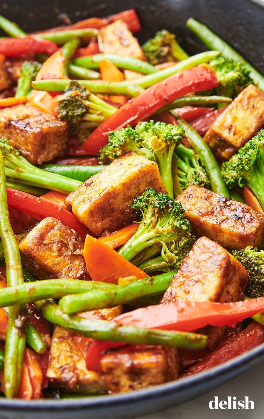 """<p>There's a mom-approved trick for getting the best tofu texture...</p><p>Get the recipe from <a href=""""https://www.delish.com/cooking/recipe-ideas/a26090091/tofu-stir-fry-recipe/"""" rel=""""nofollow noopener"""" target=""""_blank"""" data-ylk=""""slk:Delish"""" class=""""link rapid-noclick-resp"""">Delish</a>.</p>"""