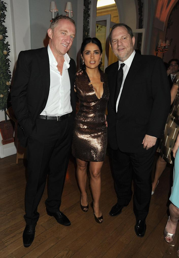 Salma Hayek and her husband, François-Henri Pinault, at the <em>Vanity Fair</em> and Gucci party honoring Martin Scorsese during the 2010 Cannes Film Festival. (Photo: Getty Images)