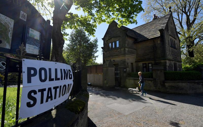A polling station in Stalybridge - Credit: Anthony Devlin/Getty Images Europe